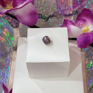 🌺 Pandora Pink Pave Crystal Charm 🌺